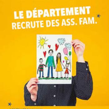 LE DÉPARTEMENT RECRUTE DES ASSISTANTS FAMILIAUX.